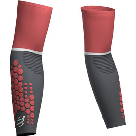 Compressport ArmForce Ultralight Manguitos, gris/rojo